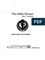 The Sikh Sansar USA-Canada Vol. 6 No. 3 September 1977