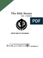 The Sikh Sansar USA-Canada Vol. 6 No. 3 September 1977