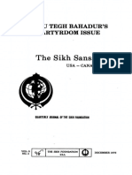 The Sikh Sansar USA-Canada Vol. 5 No. 4 December 1976 (Guru Tegh Bahadur's Martyrdom Issue)