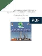 Conceptos requeridos para el cálculo de la reserva de yacimientos petroleros