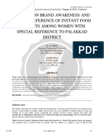 A Study on Brand Awareness and Brand Preference of Instant Food Products Among Women With Special Reference to Palakkad District c 1190