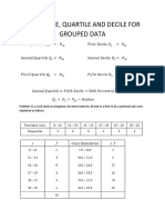 Percentile, Quartile and Decile for Grouped Data