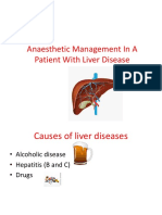 Anaesthetic Management in a Patient With Liver Disease