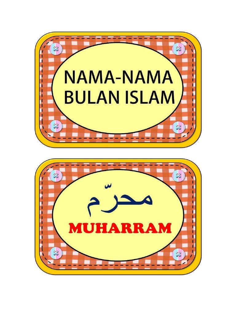 Paling Laju Nama Bulan Islam Dalam Tulisan Jawi