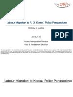 Labour Migration to Republic of Korea
