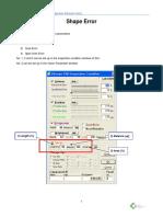 Shape & Bridge Error Manual