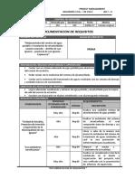 2. Documentacion de Requisitos