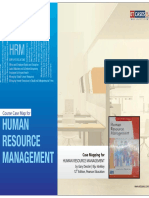 Human Resource Management - Course Case Map