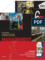 Operations Management - Course Case Map