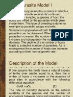 Host PArasite Model I-15
