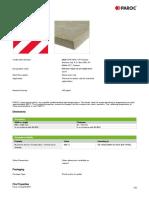 PAROC Pro Slab 140 Datasheet