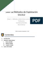 02 - Metodos Subterraneos Autosoportados