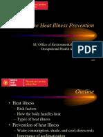SU Heat Illness Prevention Training