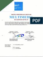 Skema Okupasi - Kualifikasi II Multimedia