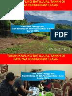 Tanah Kavling Batu,Jual Tanah Di Batu,Wa 083834366818 (Axis)
