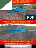 Harga Tanah Per Meter Di Batu Malang,Wa 083834366818
