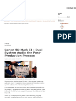 Audio and Canon 5D Mark II - Dual System Audio the Post-Production Process