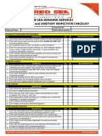 11. Food Safety, Sanitation, And Hygiene Checklist