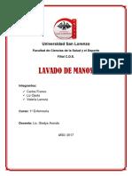 Universidad San Lorenzo Lavado de Manos