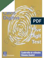 Test de Los 5 Digitos