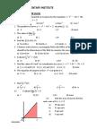 Calculus Form 4 Exam