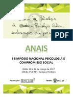 Anais I Simpósio Nacional Psicologia e Compromisso Social