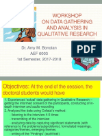 Workshop on Data Gathering and Analysis in Qualitative 2017