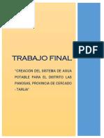 TRABAJO ESCALONADO DE ABASTECIMIENTO DE AGUA Y ALCANTARILLADO