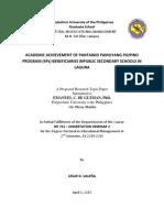 Academic Achievement of 4ps Beneficiarie