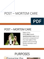 Post – Mortem Care