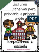 Lecturas Comprensivas Mi Primer Día de Clase PDF