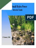 Small Hydro Power - Investor Guide