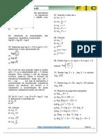 3ª Lista de Exercícios-matemática(Função Logarítmica )