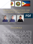 Problems Encountered by Prisoners at Provincial Jail Tubod