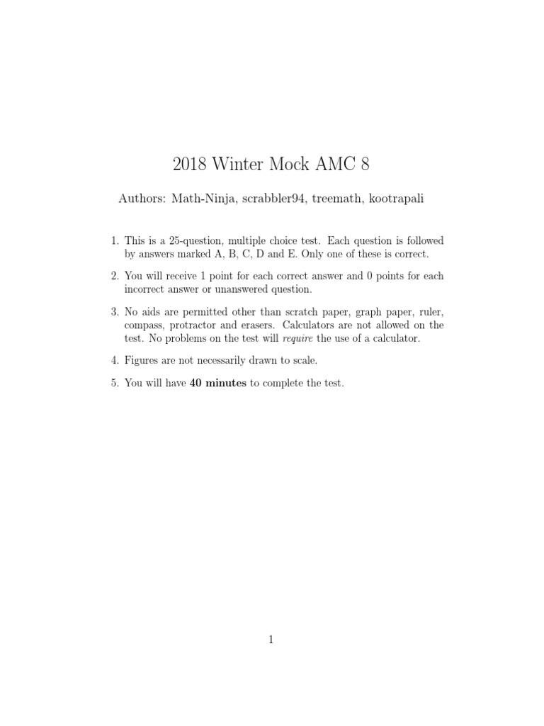 AMC 8 | Area | Euclidean Geometry