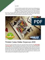 Website Casino Online Terpercaya 2018