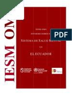 Evaluacion Del Sistema de Salud Mental en Ecuador