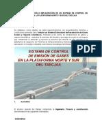 F-24 Diseño, Construcción e Implantación de Un Sistema de Control de Emisión de Gases en La Plataforma Norte y Sur Del TAECJAA
