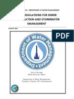2016 Storm Water Regulations