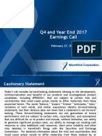 MannKind q4 Ye 2017 Call Deck Final