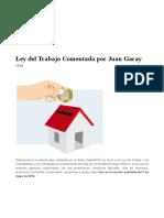 Comentarios de Juan Garay Sobre La LOTTT