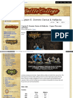 Battlecollege - Captain E. Dominic Darius _ Halfjacks - Cygnar Warcaster and Solos