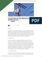 Os Sistemas de Distribuição de Energia -Fechamento Delta.