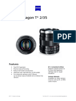 Datasheet Zeiss Distagon 235 Industrial Lens
