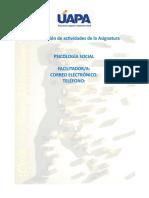 Orientaciones Didacticas de La Asignatura Psicologia Social
