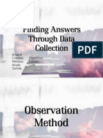 Finding Answers Through Data Collection