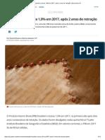 PIB Brasileiro Cresce 1,0% Em 2017, Após 2 Anos de Retração _ Economia _ G1