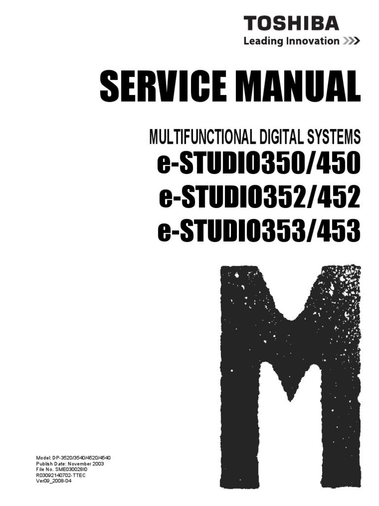 toshiba e studio 452 service manual download