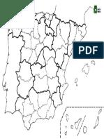 Mapa Mudo España Provincias