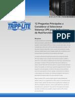 Tripp Lite White Paper 12 Preguntas Sistemas UPS